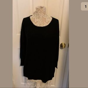 Joie Black Knit 3/4 Sleeve Top Blouse